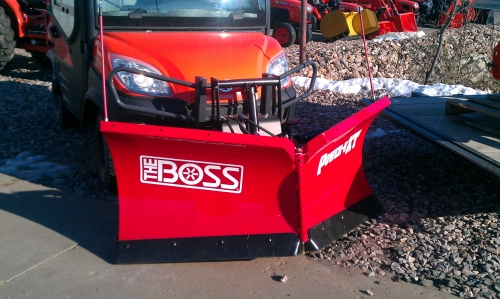 The plow of my dreams,  darn that Michigan Sales.  Now I am dreaming of what to add to my Kubota Utility Vehicle